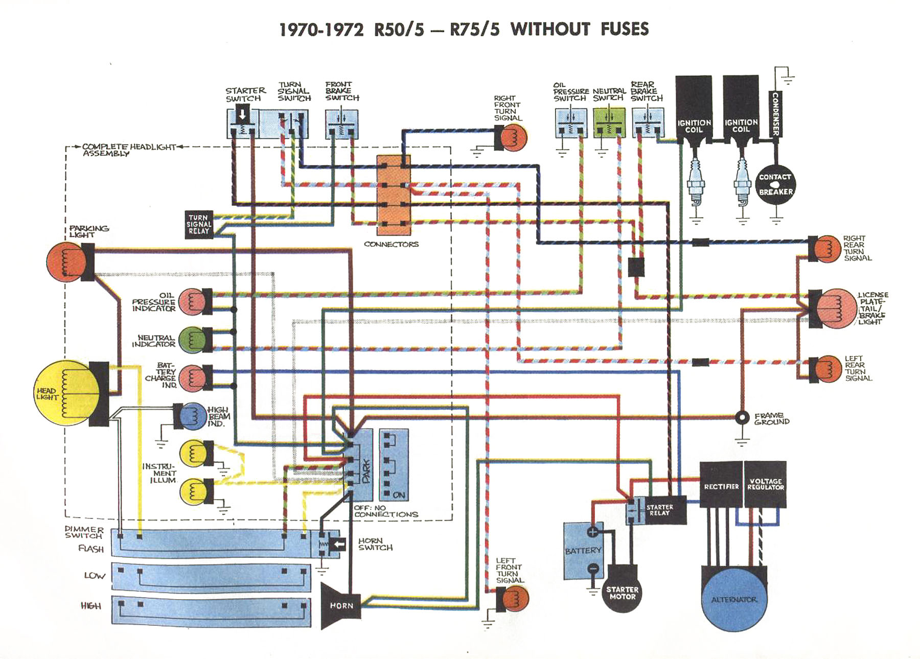 5_unfused_schematic 5 united articles wiring diagrams bmw r100rs gauge wiring diagram at creativeand.co