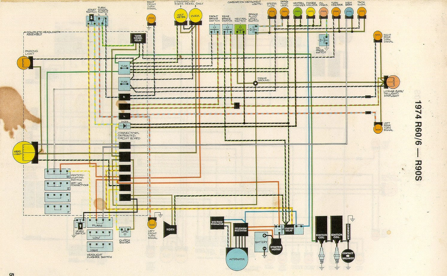 74 5 united articles wiring diagrams bmw r75/5 wiring diagram at gsmx.co