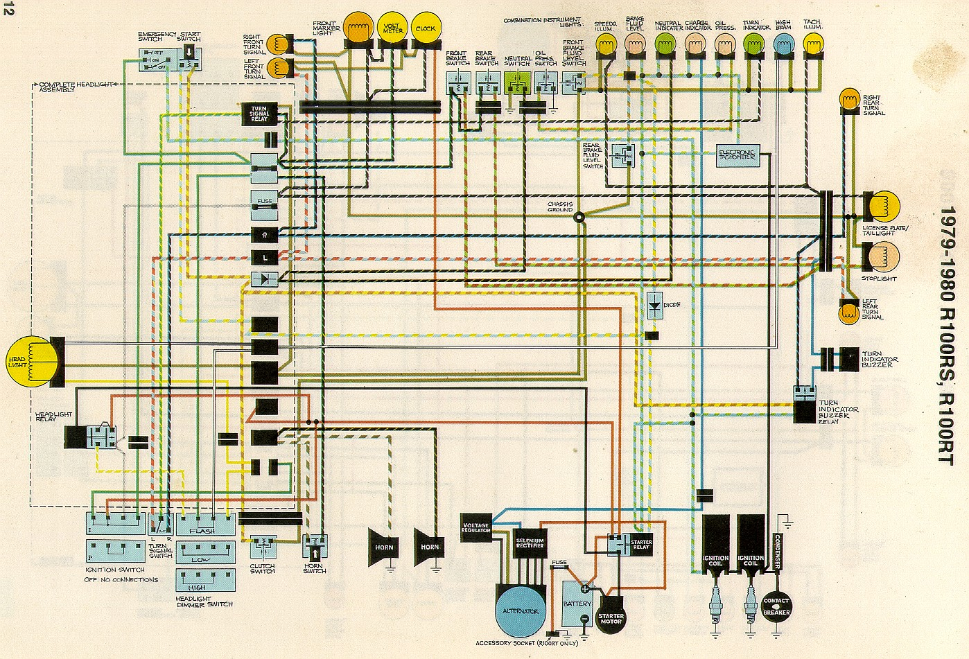 bmw r100 wiring diagram bmw r100 diode board wiring diagram wiring rh parsplus co BMW Motorcycle Wiring Diagrams 1998 1998 BMW Funduro Wiring-Diagram